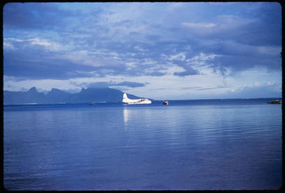 [TEAL Short Solent moored at Tahiti]; Hajo Topzand; 1950s
