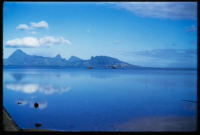 [Tahiti lagoon with TEAL Short Solent moored]