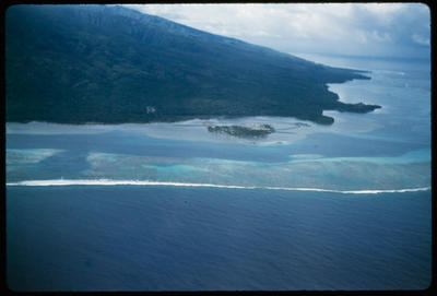 [Aerial view of the western end of Tahiti taken from TEAL Short Solent]