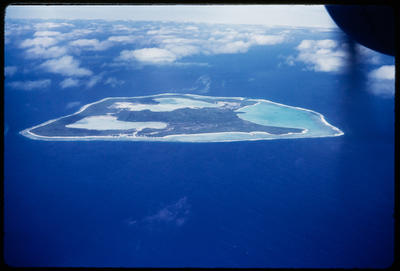 [Aerial view of Tubuai Manu, French Polynesia taken from TEAL Short Solent]