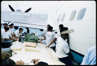 [Departing TEAL Short Solent moored at Satapuala, Western Samoa]
