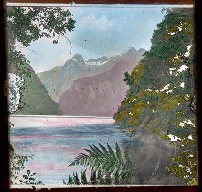 [Hand-coloured New Zealand landscape]