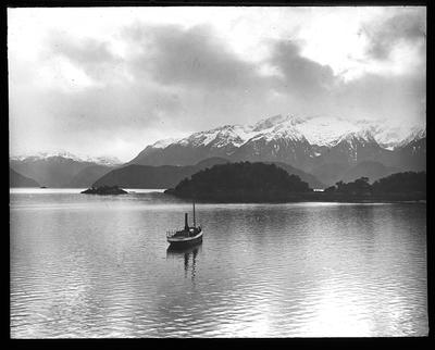 Cathedral Peaks. L. Manawapouri. New Zealand