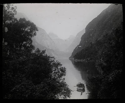 Looking up Milford Sound; Unknown; Late 19th Century-Early 20th Century