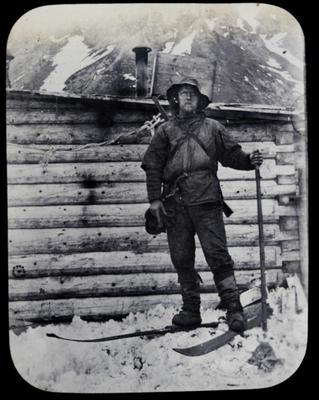 Photograph Mr. Jackson of Nansen at Cape Flora. Photograph by Frederick George Jackson