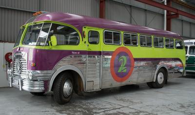 Bus [TV2's 1955 Leyland Comet]