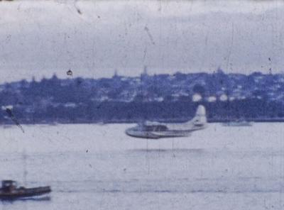 [Film of Devonport Steam Ferry and Sunderland Flying Boat]