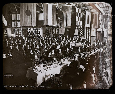 """Banquet to the """"All Blacks"""" Auckland March 6 1906"""