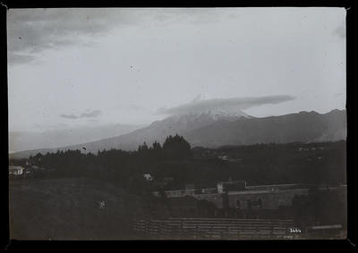 [Landscape with mountain in background]; Unknown; Late 19th Century-Early 20th Century