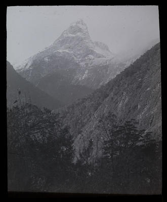 [Landscape with mountain peak]; Unknown; Late 19th Century-Early 20th Century