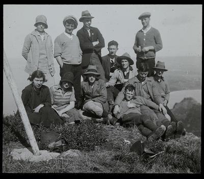 C 912 Students at Top Manaia 1929