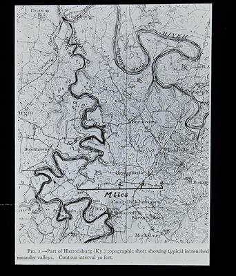 Fig. 2 - Part of Harrodsburg topographic sheet