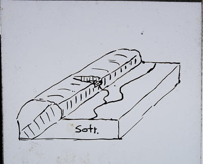 [Hand drawn geological feature]
