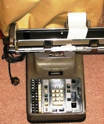 Book keeping machine