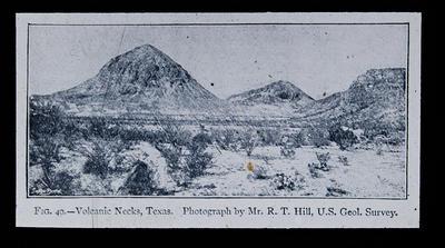 Fig. 49 - Volcanic Necks, Texas.