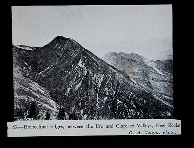 Fig. 83.- Homoclinal ridges, between the Ure and Clarence Valleys, New Zealand