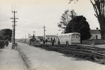 [Track removal on Sandringham Road near Grove Road]