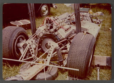 [Chassis, engine and wheels of Heron MK 2/3 Sports Racing Car]