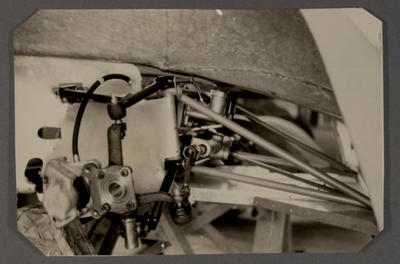 [Heron MK2 sports racing car in construction in workshop]