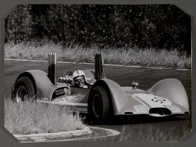 [Heron MK2 sports racing car during race]
