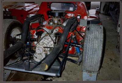 [Heron MK4 GT 40 sports racing car close up]