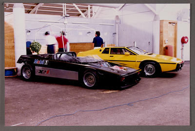 [Heron XR1 with MOBIL racing markings next to Heron automobiles]