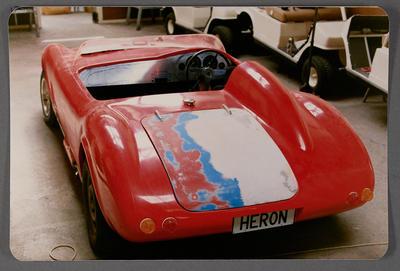 [Porsche Short Spyder replica in construction in Heron Developments workshop]