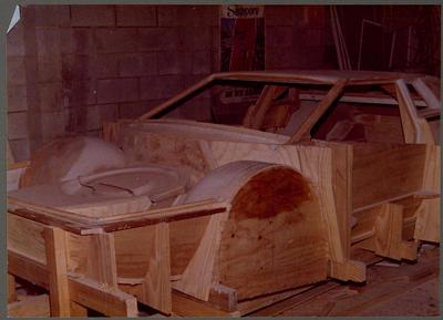 [Wooden base of Heron MJ1 mould]