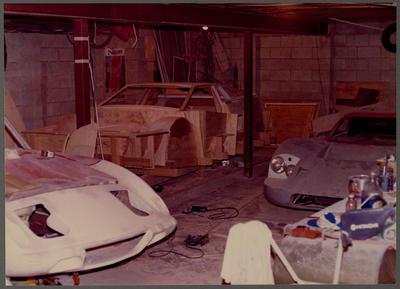 [Wooden base of Heron MJ1 mould in workshop]