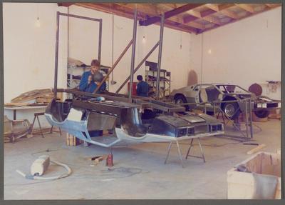 [Heron MJ1 fibreglass mould in construction in Heron Development workshop]