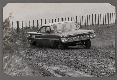 [Automobile in race]