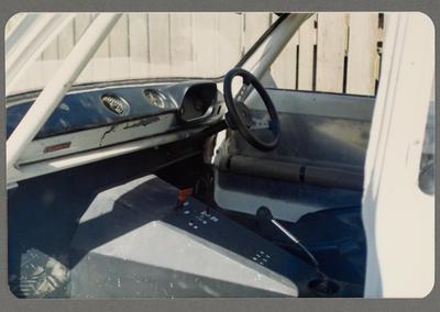 [Interior of automobile]