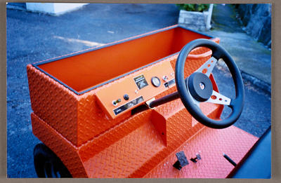 [Heron buggy dashboard and steering wheel]