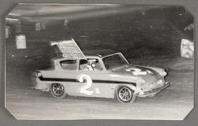 [Ford Anglia Saloon Car during race]