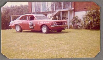 [MK3 Cortina Saloon Car side view with racing markings]