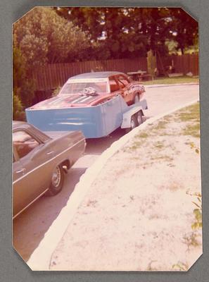 [MK3 Cortina Saloon Car on trailer]