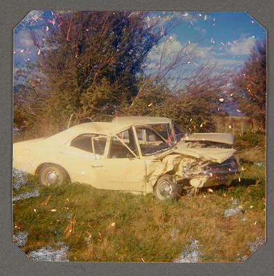 [Wreck of MK3 Cortina Saloon Car]