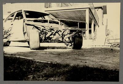 [MK3 Cortina Saloon Car partially disassembled]