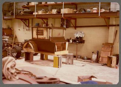 [Heron Sprint MK2 wooden body frame in workshop]