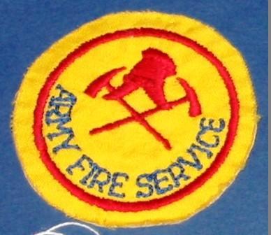 Patch [Army Fire Service]