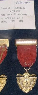 Medal [Medal for Services Rendered Onehunga Fire Brigade]