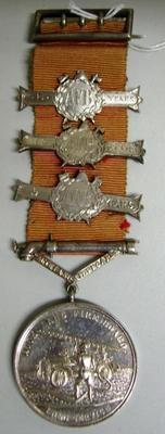 Medal and Ribbon [Long Service Medal Auckland Fire Board]