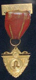 Medal [12 year service as Secretary medal Onehunga Fire Brigade]