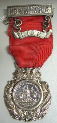 Medal and Ribbon [Honorary Life Members Medal Onehunga Volunteer Fire Brigade]