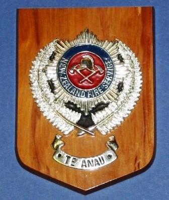Plaque [New Zealand Fire Service Te Anau]