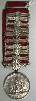 Medal and Ribbon [United Fire Brigades Association New Zealand 5 Year Medal]