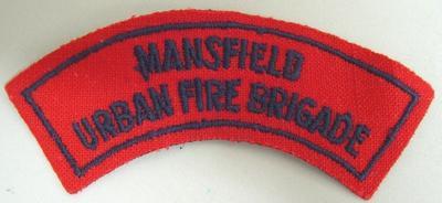 Shoulder patch [Mansfield Urban Fire Brigade]