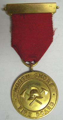 Medal and Ribbon [North Shore Fire Board Five Year medal]