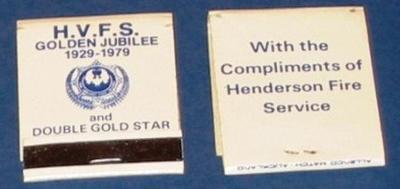 Matchbook [Henderson Fire Service Golden Jubilee]