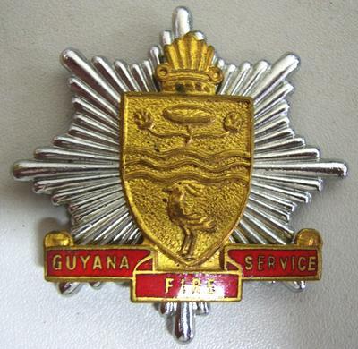 Hat Badge [Guyana Fire Service]